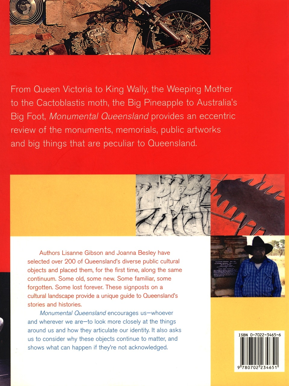 Monumental Qld back cover
