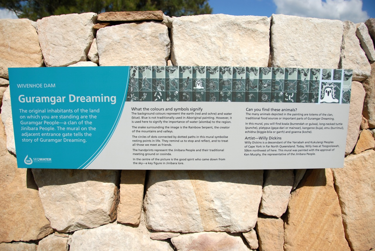 Wivenhoe Dam interpretive signage
